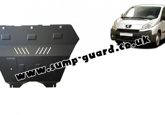 Steel sump guard for the protection of the engine and the gearbox for Peugeot Expert