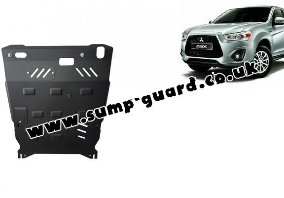 Steel sump guard for the protection of the engine and the gearbox for Mitsubishi ASX