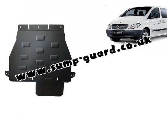 Steel gearbox guard for Mercedes Vito W639 - 4x4