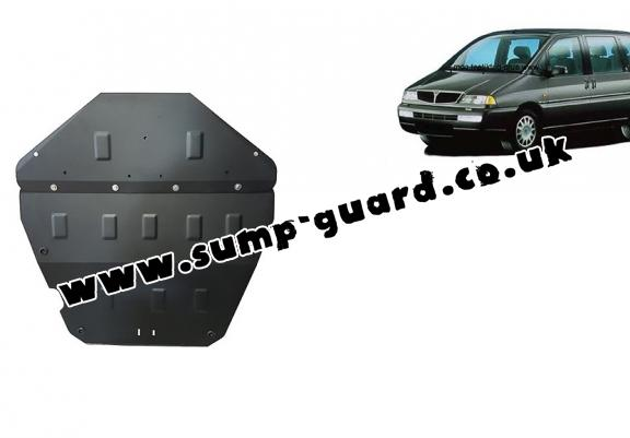 Steel sump guard for the protection of the engine and the gearbox for Lancia Zeta