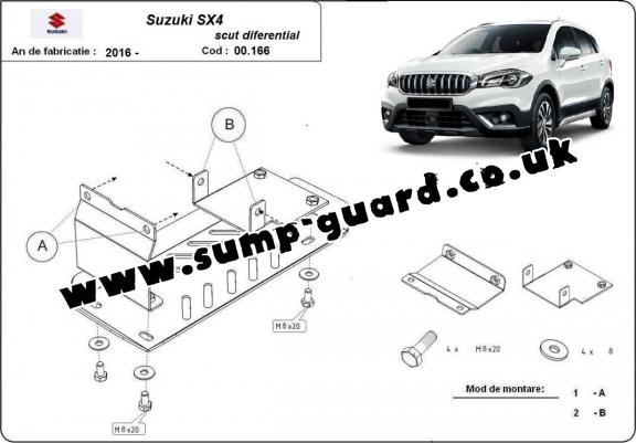 Steel diferential guard for Suzuki SX4