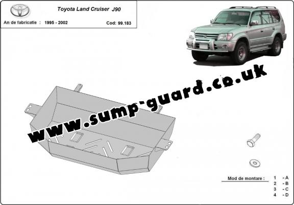 Steel fuel tank guard  for Toyota Land Cruiser J90
