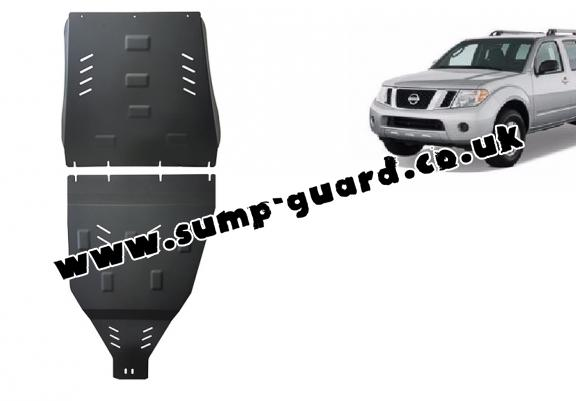 Steel gearbox and differential guard for Nissan Pathfinder