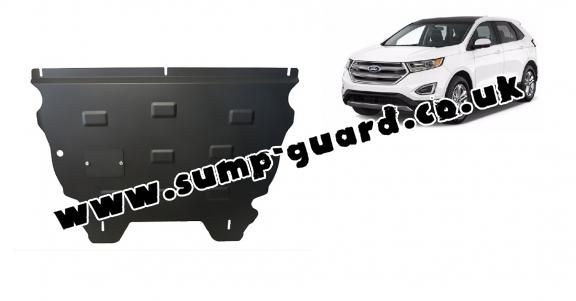 Steel sump guard for the protection of the engine and the gearbox for Ford Edge