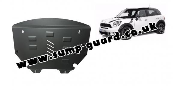 Steel sump guard for Mini Countryman