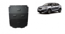Steel sump guard for Suzuki Baleno