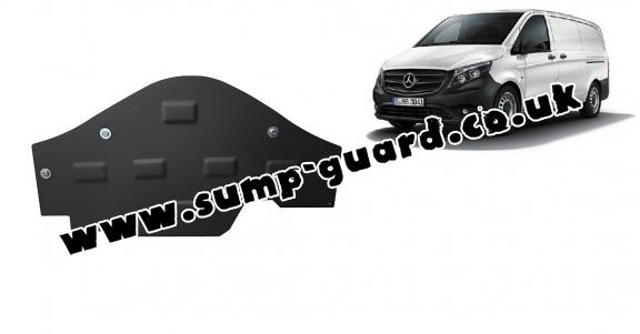 Steel sump guard for the protection of the Stop&Go system Mercedes Vito W447, 4x2, 1.6 D