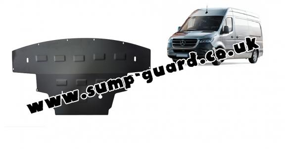 Steel sump guard for Mercedes Sprinter-RWD