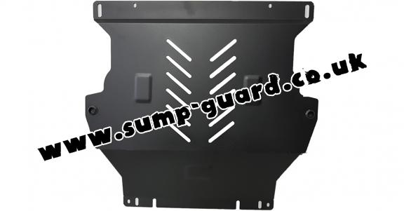 Steel sump guard for the protection of the engine and the gearbox for Chevrolet Trax