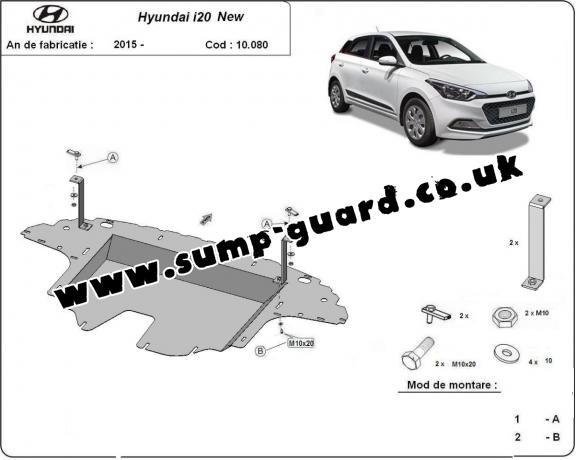 Steel sump guard for Hyundai i20