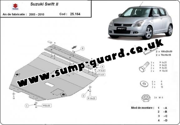 Steel sump guard for Suzuki Swift 2