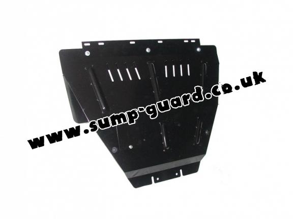 Steel sump guard for Peugeot 306