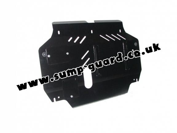 Steel sump guard for Hyundai Accent