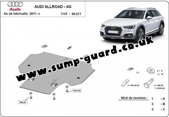 Steel gearbox guard for Audi All Road