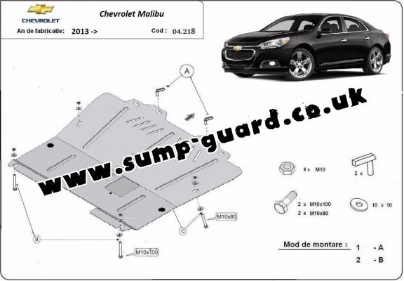 Steel sump guard for Chevrolet Malibu