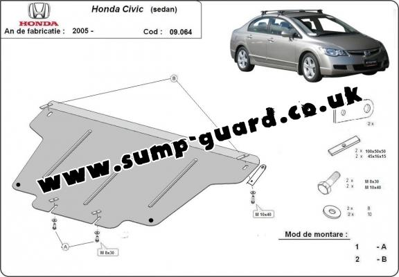 Steel sump guard for Honda Civic (berlin)