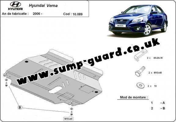 Steel sump guard for Hyundai Verna