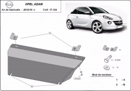 Steel sump guard for Vauxhall Adam
