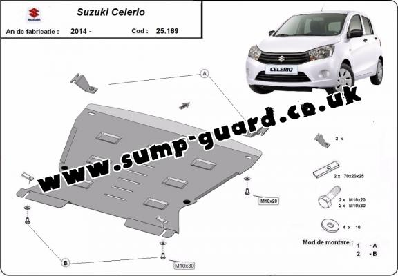 Steel sump guard for Suzuki Celerio