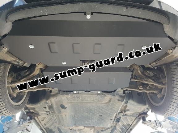 Steel sump guard for Mercedes C-Class W205
