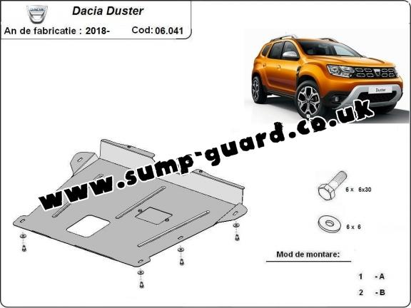 Steel sump guard for Dacia Duster