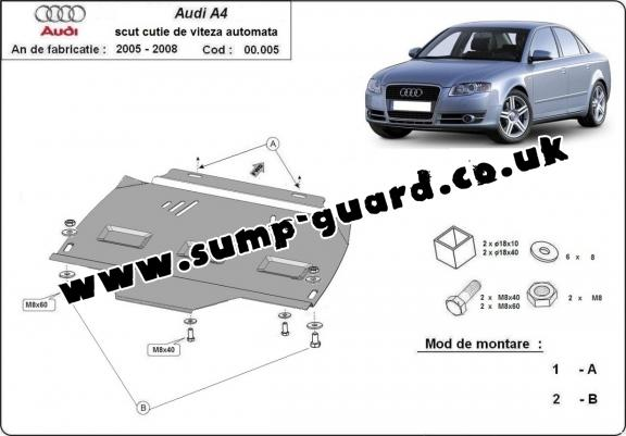 Steel automatic gearbox guard forAudi A4  B7