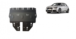 Steel sump guard for Audi A1