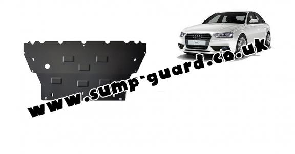 Steel sump guard for Audi A4  B8