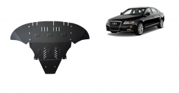 Steel sump guard for Audi A6 avec laterale