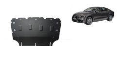 Steel sump guard for Audi A7