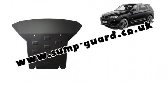 Steel sump guard for BMW X3 - F25