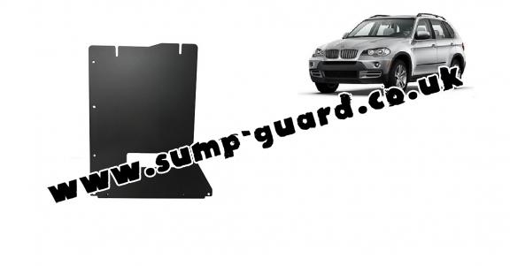 Steel gearbox guard for BMW X5