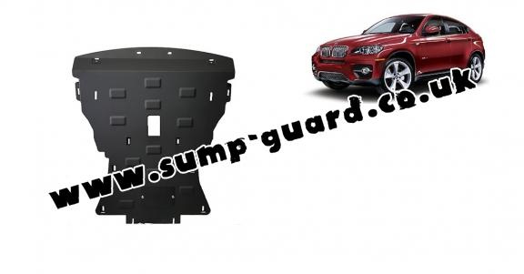Steel sump guard for BMW X6