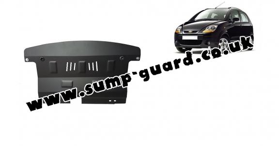 Steel sump guard for Chevrolet Spark
