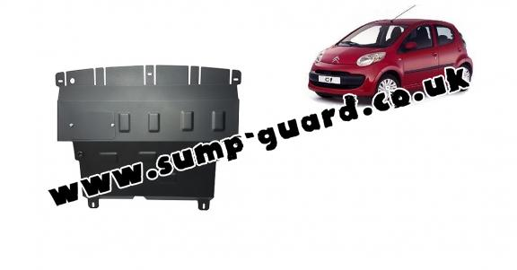 Steel sump guard for Citroen C 1