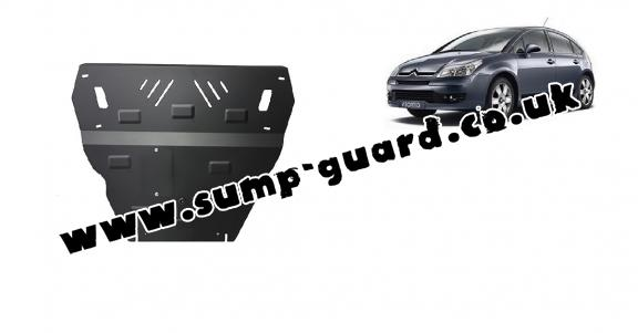 Steel sump guard for Citroen C4