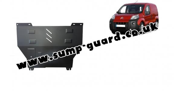 Steel sump guard for Citroen Nemo