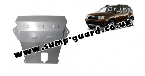 Aluminum sump guard for Dacia Duster