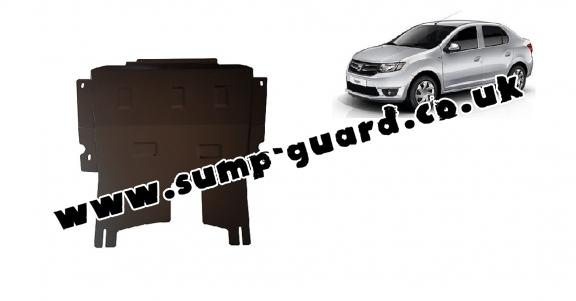 Steel sump guard for Dacia Logan 2