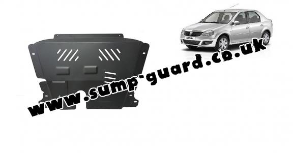 Steel sump guard for Dacia Logan 1
