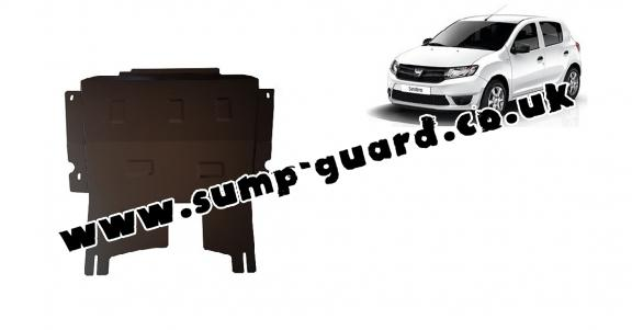 Steel sump guard for Dacia Sandero 2