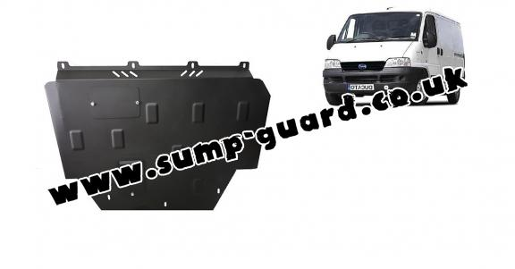 Steel sump guard for Fiat Ducato
