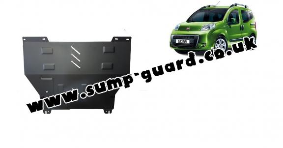 Steel sump guard for Fiat Fiorino