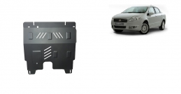 Steel sump guard for Fiat Linea
