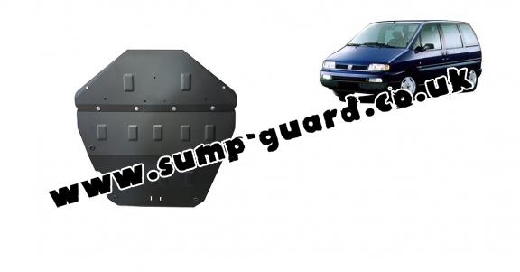 Steel sump guard for Fiat Ulysse