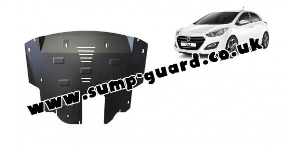 Steel sump guard for Hyundai I30
