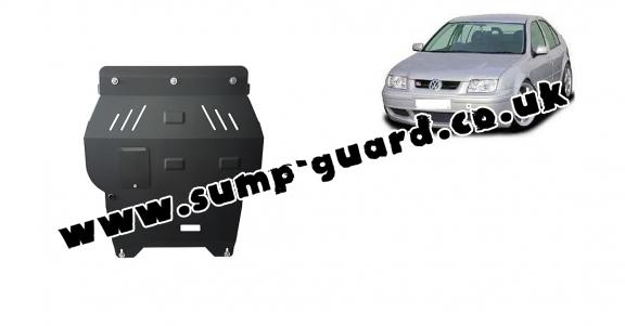 Steel sump guard for VW Bora