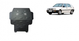 Steel sump guard for VW Golf 3