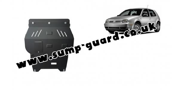 Steel sump guard for golf mk4