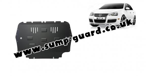 Steel sump guard for VW Jetta
